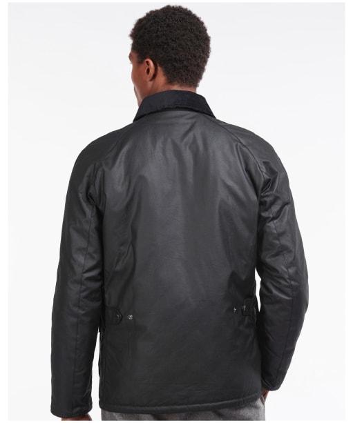 Men's Barbour Horto Waxed Jacket - Black