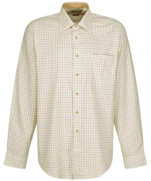 Men's Barbour Field Tattersall Shirt - Classic collar - GREEN/BROWN 2