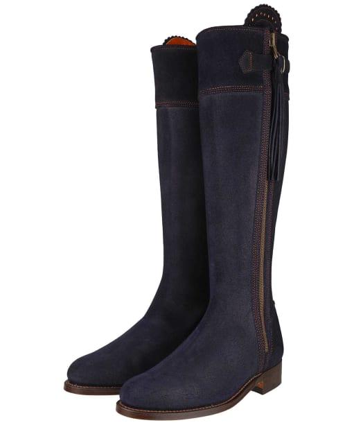 Women's Penelope Chilvers Long Riding Tassel Boots – Navy