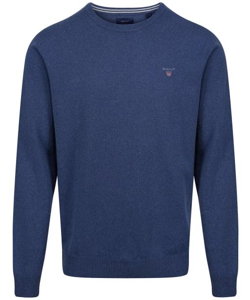 Men's GANT Super Fine Lambswool Sweater - Stone Blue Melange