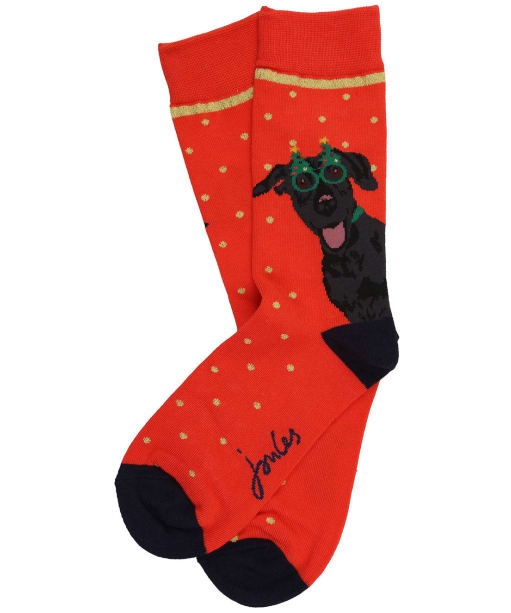 Women's Joules Christmas Single Socks - Christmas Dog
