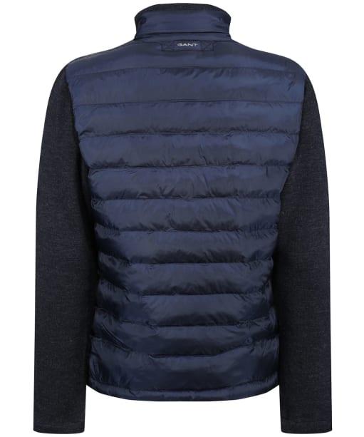 Men's GANT Mixed Media Light Padded Jacket - Evening Blue
