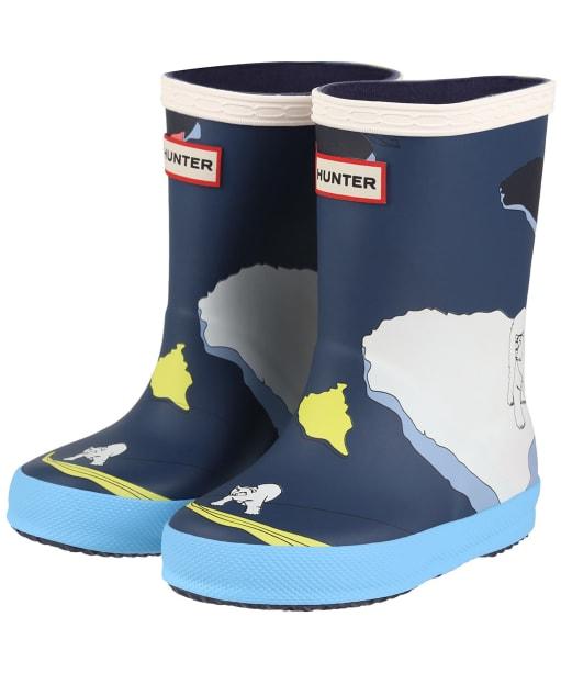 Hunter Original Kids First Classic Iceberg Print Boots - Iceberg Kerhue
