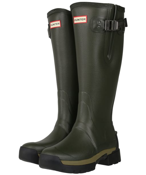 Women's Hunter Balmoral Side Adjustable Neo Lined Tech Sole Boots – Tall - Dark Olive