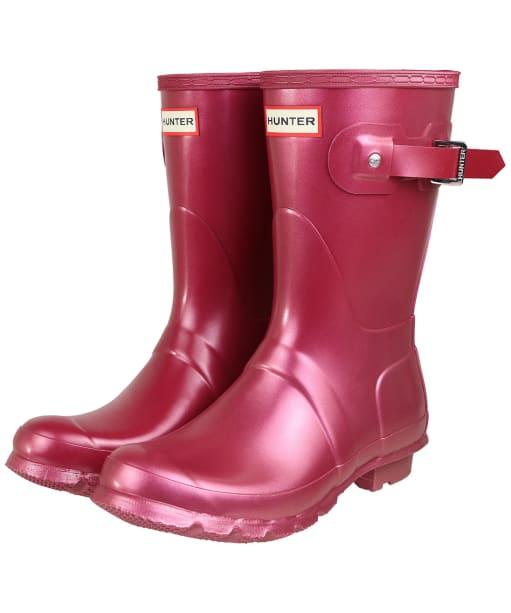 Women's Hunter Original Short Nebula Boots - Hayes Burgundy