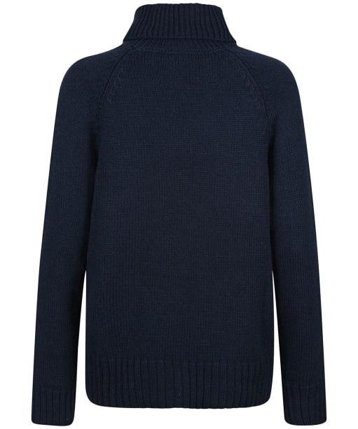 Women's Tentree Highline Wool Turtleneck Sweater - Midnight Blue Heather