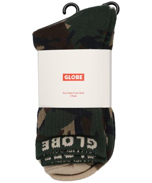 Globe Eco Camo Crew Socks – 3 Pack - Camo