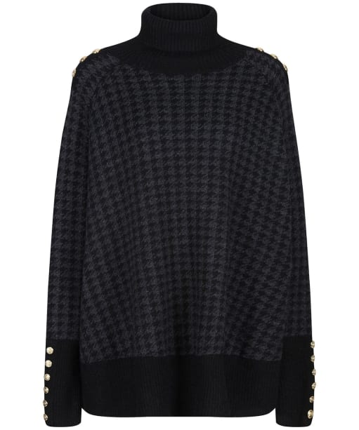 Women's Holland Cooper Kingsbury Cape Knit - Grey Houndstooth