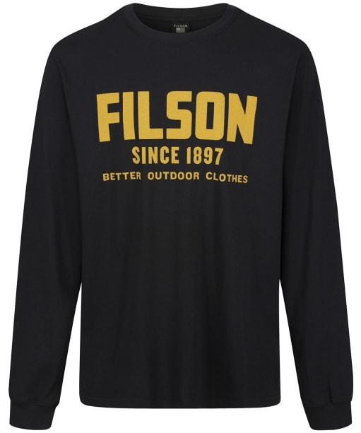 Men's Filson L/S Pioneer Graphic T-Shirt - Black / Gold