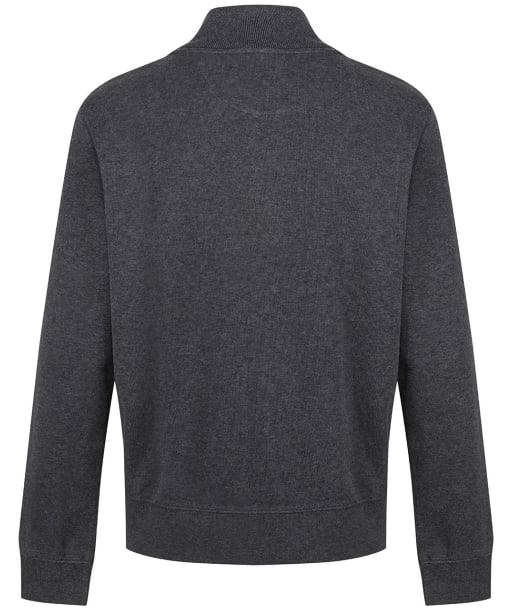 Men's GANT Sacker Rib Half Zip Sweater - Antracite Melange