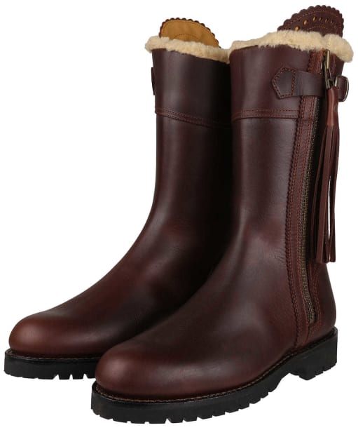 Women's Penelope Chilvers Midcalf Lined Tassel Boot - Conker Brown