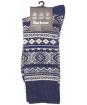 Men's Barbour Onso Fairisle Socks - Navy