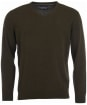 Mens Barbour Essential Lambswool V Neck Sweater - Seaweed