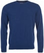 Mens Barbour Essential Lambswool Crew Neck Sweater - Deep Blue