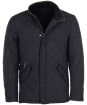 Mens Barbour Powell Quilted Jacket - Navy