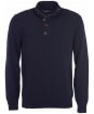 Barbour Patch Half Zip Lambswool Sweater - Navy