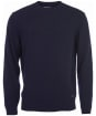 Men's Barbour Patch Crew Neck Lambswool Sweater - Navy