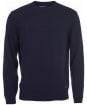 Men's Barbour Patch Crew Neck Lambswool Sweater - Navy