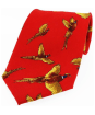 Men's Soprano Large Flying Pheasant Tie - Red