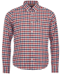 Barbour Moss Check Shirt Tailored Fit - Red Check