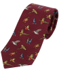 Soprano Country Country Birds Tie - Wine