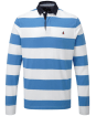 Men's Musto Edward Stripe Rugby Shirt - Regal Blue | Bright White