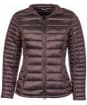 Women's Barbour Clyde Short Baffle Quilted Jacket - Dark Aubergine