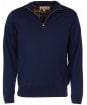 Men's Barbour Gamlin Half Zip Waterproof Sweater - Navy