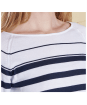 Women's Barbour Chock Stripe Knit Sweater - Navy