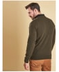 Men's Barbour Essential Lambswool V Neck Sweater - Seaweed