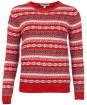 Women's Barbour Mallow Knit Sweater - Lighthouse Red