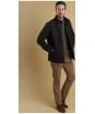 Men's Barbour Shoveler Quilted Jacket - Black