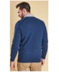 Men's Barbour Essential Lambswool V Neck Sweater - Deep Blue