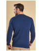 Men's Barbour Essential Lambswool Crew Neck Sweater - Deep Blue