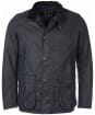 Men's Barbour Leeward Wax Jacket - Navy