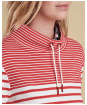 Women's Barbour Rief Sweatshirt - Cloud / Red
