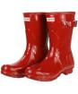 Women's Hunter Original Short Gloss Wellington Boots - Military Red