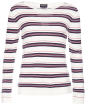 Women's Barbour Kinross Knit Sweater - Cloud / Navy / Red