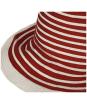 Women's Barbour Sealand Sun Hat - Red Stripe