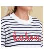 Women's Barbour Hollyhock Sweat - Cloud / Navy