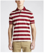 Men's R.M Williams Rod Stripe Polo Shirt - Red / Bone
