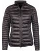 Women's Barbour Clyde Short Baffle Quilted Jacket - Ash Grey
