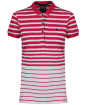 Women's Musto Ana Striped Polo Shirt - Bright Rose