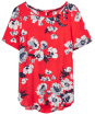 Women's Joules Hannah Woven Top - Red Posy