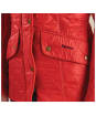 Women's Barbour Cavalry Polarquilt Jacket - Red