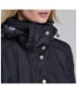 Women's Barbour International Outlaw Waterproof Jacket - Black