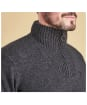 Men's Barbour Essential Lambswool Half Zip Sweater - Charcoal