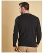 Men's Barbour Essential Lambswool Crew Neck Sweater - Black