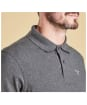 Men's Barbour Tartan Pique Polo Shirt - Slate Marl