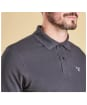Men's Barbour Tartan Pique Polo Shirt - Navy